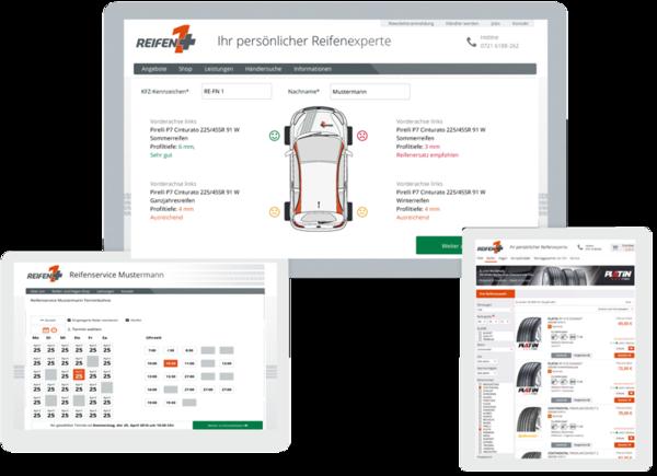 Reifen1+ E-Commerce-Paket